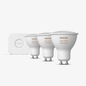 kit-3-bombillas-bluetooth-philips-hue-led-gu10-y-puente-luz-blanca-y-color-foto-2
