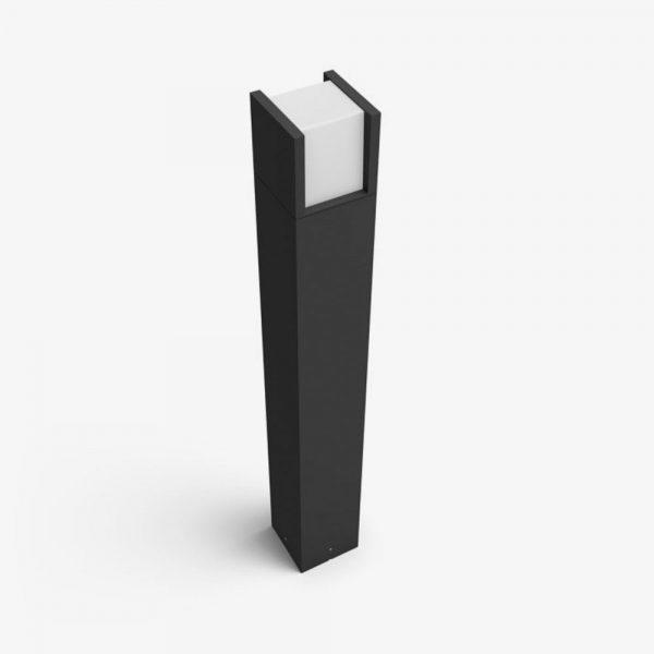 pedestal-exterior-fuzo-led-e27-negro-philips-hue-foto-2