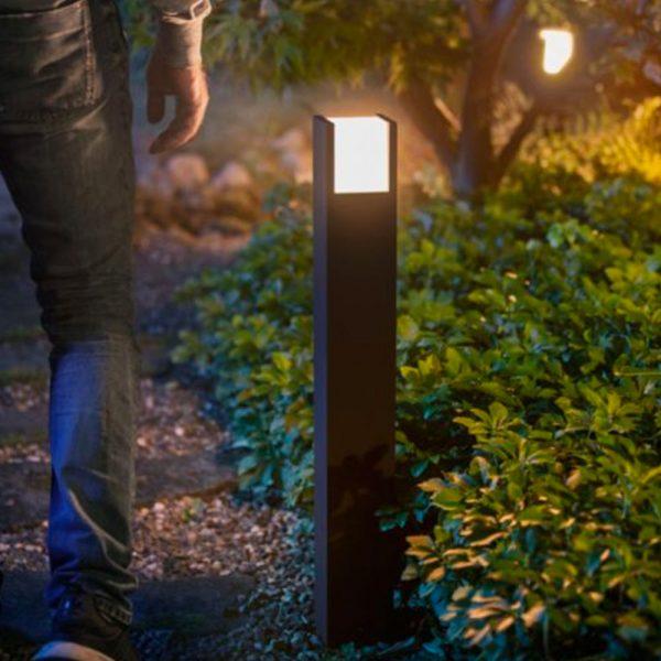 pedestal-exterior-fuzo-led-e27-negro-philips-hue-foto-3